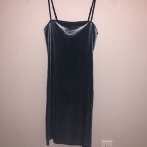Forever 21 Dresses - BRAND NEW blue velvet bodycon dress